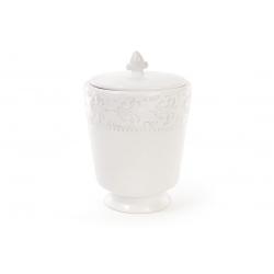Банка для печенья керамическая 1.2л Королевская лилия, цвет - белый