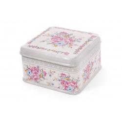 Банка для печенья керамическая 3350мл Роза Ситец