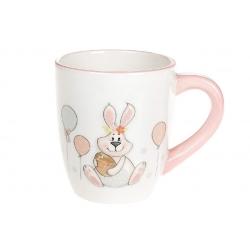 Кружка керамическая 360мл с объемным рисунком Веселый кролик