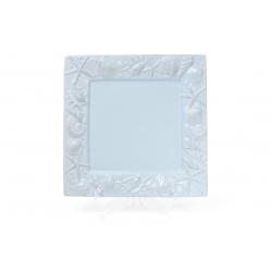Блюдо керамическое квадратное 26см Морские мотивы, цвет - светло-голубой