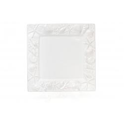 Блюдо керамическое квадратное 26см Морские мотивы, цвет - белый