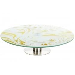 Блюдо вращающееся на ножке для сервировки стола Топлёное масло, 30см