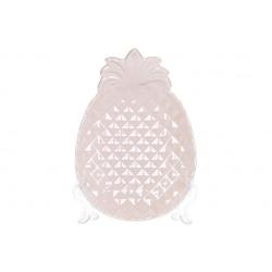 Блюдо керамическое Ананас 21см, цвет - розовый перламутр