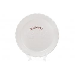 Блюдо керамическое 28см с объемным рисунком Тоскана