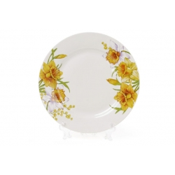 Десертная фарфоровая тарелка 19см Нарцисс