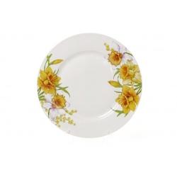 Обеденная фарфоровая тарелка 23см Нарцисс
