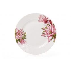 Десертная фарфоровая тарелка 19см Магнолия