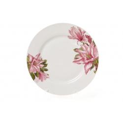 Обеденная фарфоровая тарелка 23см Магнолия