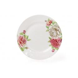Десертная фарфоровая тарелка 19см Розы