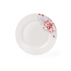 Десертнаяфарфоровая тарелка 19см Цветы