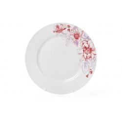 Обеденная фарфоровая тарелка 23см Цветы