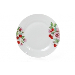 Обеденная фарфоровая тарелка 27см Вишня