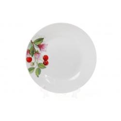 Десертная фарфоровая тарелка 19см Вишня
