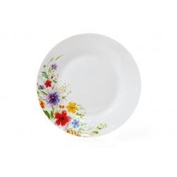 Десертная фарфоровая тарелка 19см Акварельные цветы