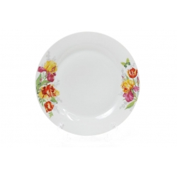 Обеденная фарфоровая тарелка 27см Ирисы