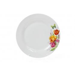 Обеденная фарфоровая тарелка 23см Ирисы