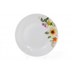 Десертная фарфоровая тарелка 19см Летняя фантазия