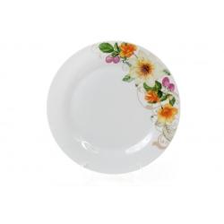 Обеденная фарфоровая тарелка 23см Летняя фантазия