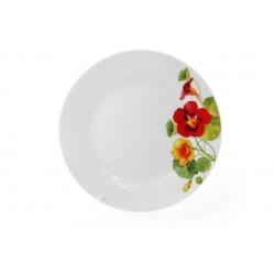 Десертная фарфоровая тарелка 19см Настурция