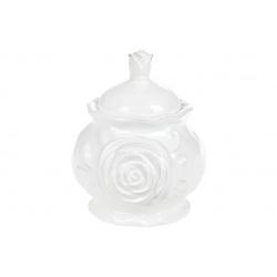 Сахарница керамическая 400мл Аэлита, цвет - белый