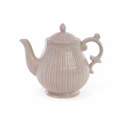 Чайник керамический 1л, цвет - бежевый