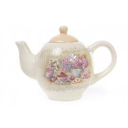Чайник керамический 1050мл Гортензия