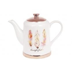 Чайник керамический Плюмаж, 1л
