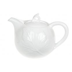 Чайник заварочный фарфоровый 1л с объемным рисунком Лист