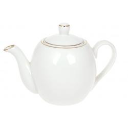 Чайник заварочный фарфоровый Нежность 600мл с золотым кантом