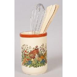 Подставка керамическая в наборе с кухонными принадлежностями Фазан