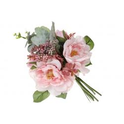 Декоративный букет Роз, 35см, цвет - розовый