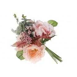 Декоративный букет Роз, 35см, цвет - персиковый