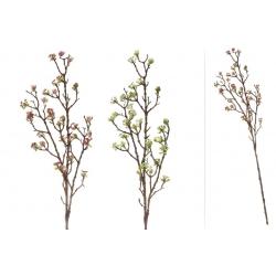 Декоративная ветка с ягодами и цветами, 102см, 2 вида