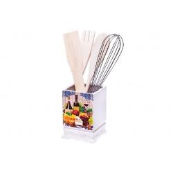 Подставка керамическая в наборе с кухонными принадлежностями Cheese&Wine