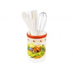 Подставка керамическая в наборе с кухонными принадлежностями Пейзаж