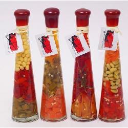 Декоративная бутылка с овощами, 24см, 4 вида