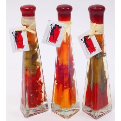 Декоративная бутылка с овощами, 23.2см, 3 вида