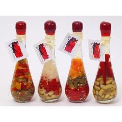 Декоративная бутылка с овощами, 18.3см, 4 вида