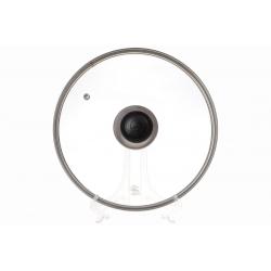 Крышка стеклянная 24см с металлическим ободком 18см