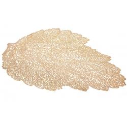 Подтарельник фигурный 47см Ажурный лист, цвет - золото