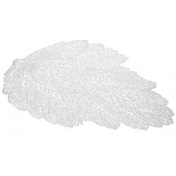 Подтарельник фигурный 47см Ажурный лист, цвет - серебро