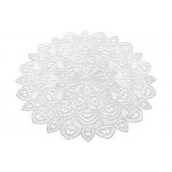 Подтарельник ажурный Хризантема, 38см, цвет - серебро
