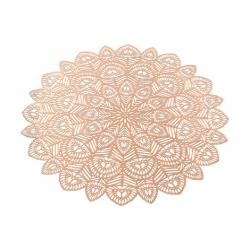Подтарельник ажурный Хризантема, 38см, цвет - розовое золото