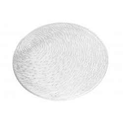 Подтарельник ажурный 38см, цвет - серебро