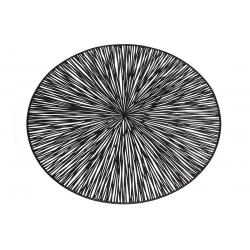Подтарельник ажурный 38см Лучи, цвет - черный