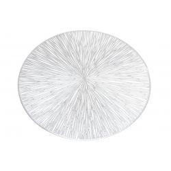 Подтарельник ажурный 38см Лучи, цвет - серебро