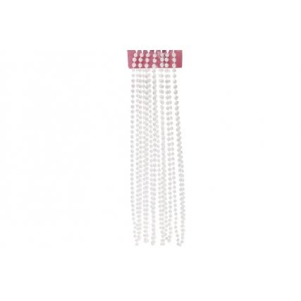 Бусы пластиковые 8мм*5.4м, цвет - белый жемчуг