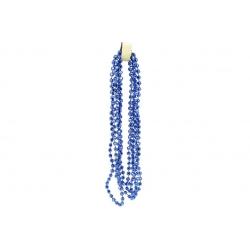 Бусы пластиковые Диамант, цвет - королевский синий, 5мм*2.7м
