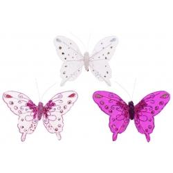 Декоративная бабочка 12см, 3 вида