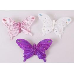 Декоративная бабочка 14см, 3 вида